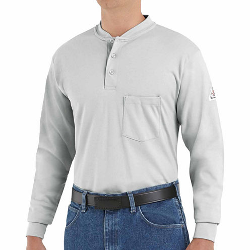 Bulwark® Flame-Resistant Long-Sleeves Henley Tee - Big & Tall