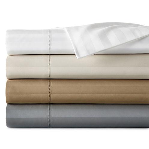 Royal Velvet® 500tc Damask Stripe Split King Sheet Set
