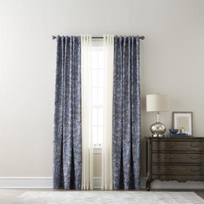 jcpenneycom royal velvet florence u0026 jcpenney home batiste sheer curtain panels - Sheer Curtain Panels