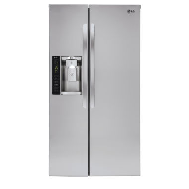jcpenney.com | LG 21.9 cu. ft. Ultra Large Capacity Side-By-Side Counter Depth Refrigerator