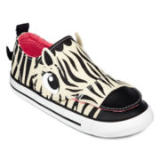 Converse All Star Chuck Taylor No Problem Zebra  Girls Sneakers - Toddler