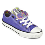 Converse All Star Chuck Taylor Double-Tongue Girls Sneakers - Little Kids