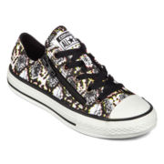 Converse All Star Chuck Taylor Double-Zip Girls Sneakers - Little Kids