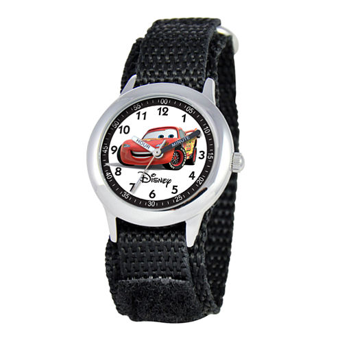 Disney Cars Kids Time Teacher Nylon Fast Strap Watch