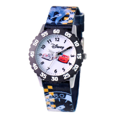 jcpenney.com | Disney Cars Kids Time Teacher  Nylon Strap Easy-Read Watch