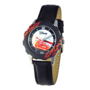 Disney Cars Tween Leather Strap Watch