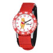 Disney® Kid's Winnie Stainless Steel Fast Strap Watch