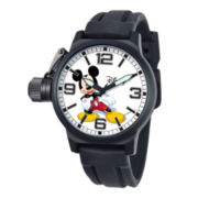 Disney Crown Protector Mens Mickey Mouse Rubber Strap Watch