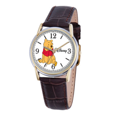 jcpenney.com | Disney Cardiff Womens Winnie the Pooh Brown Leather Watch