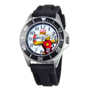 Disney Honor Mens Iron Man Black Silicone Strap Watch