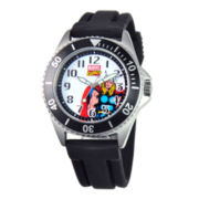 Disney Honor Mens Thor Black Rubber Strap Watch