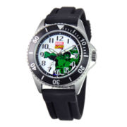 Disney Honor Mens The Hulk Black Silicone Strap Watch