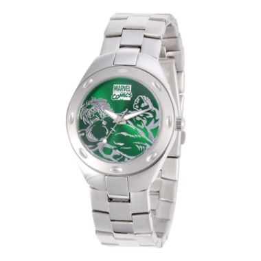 jcpenney.com | Marvel Fortazela Mens The Hulk Green Dial Stainless Steel Watch