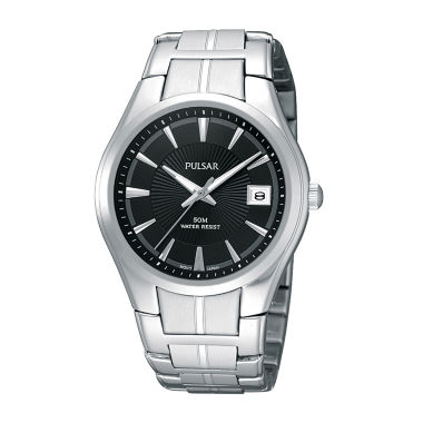 jcpenney.com | Pulsar® Mens Black Dial Stainless Steel Bracelet Watch PXH913