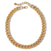 Decree® Gold-Tone, Textured Chain Necklace