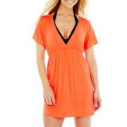 a.n.a® Deep V-Neck Empire-Waist Cover-Up Dress