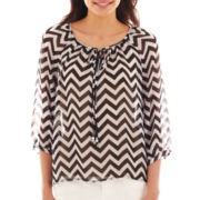 a.n.a® 3/4-Sleeve Peasant Top - Tall