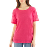 MNG by Mango® Short-Sleeve Linen Tee