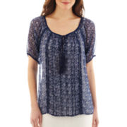 MNG by Mango® Short-Sleeve Peasant Blouse