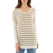 MNG by Mango® 3/4-Sleeve Scoopneck Tunic Sweater