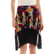 MNG by Mango® Colorblock Pleated Skirt