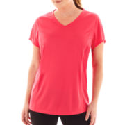 Made For Life™ Short-Sleeve Seamed Mesh Tee - Plus