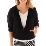 Liz Claiborne® Zip-Front Jacket