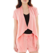 Ambrielle® Short-Sleeve Flyaway Cardigan