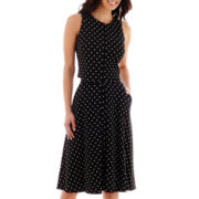 Danny & Nicole® Sleeveless Polka Dot Popover Fit-and-Flare 2-pc. Dress