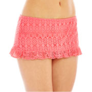 Bisou Bisou® Crochet Ruffled Skirted Swim Bottoms