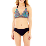 Liz Claiborne® Paisley Print Halter Swim Top or Hipster Bottoms