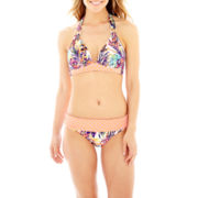 Liz Claiborne® Tropical Print Halter Swim Top or Hipster Bottoms