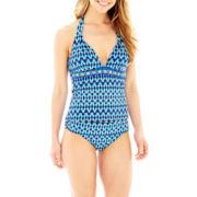 Liz Claiborne® Shibori Print Halterkini Swim Top or Hipster Bottoms