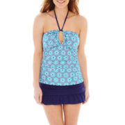 Liz Claiborne® Print Tankini Swim Top or Solid Skirted Bottoms