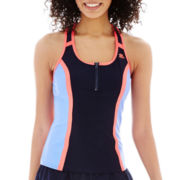 ZeroXposur® Colorblock Racerback Scuba Tankini Swim Top