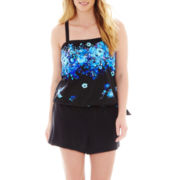 Azul by Maxine of Hollywood Blouson Swim Top or Woven Shorts - Plus
