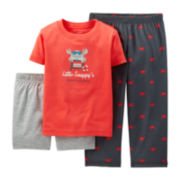 Carter's® 3-pc. Crab Pajama Set - Baby Boys 12-24m