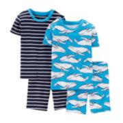 Carter's® 4-pc. Blue Pajama Set – Preschool Boys 4-7