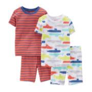 Carter's® 4-pc. Striped and Submarine Pajama Set - Preschool Boys 4-7