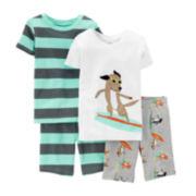 Carter's® 4-pc. Surfer Dog Pajama Set - Preschool Boys 4-7