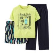 Carter's® 3-pc. Beach Dude Pajama Set – Preschool Boys 4-7