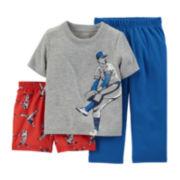 Carter's® 3-pc. Baseball Pajama Set - Preschool Boys 4-7