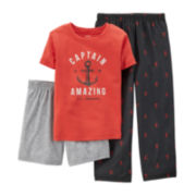 Carter's® 3-pc. Captain Amazing Pajama Set - Preschool Boys 4-7