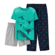 Carter's® 3-pc. Whale Pajama Set – Preschool Boys 4-7