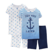 Carter's® 4-pc. Striped and Dot Pajama Set – Preschool Girls 4-7