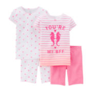 Carter's® 4-pc. Pink Pajama Set – Preschool Girls 4-7