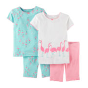 Carter's® 4-pc. Flamingo Pajama Set - Preschool Girls 4-7