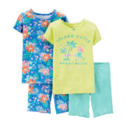 Carter's® 4-pc. Island Cutie Pajama Set – Preschool Girls 4-7