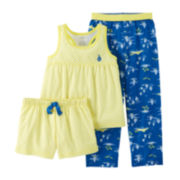 Carter's® 3-pc. Ditsy Dot and Boat Pajama Set – Preschool Girls 4-7