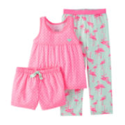 Carter's® 3-pc. Flamingo Pajama Set – Preschool Girls 4-7